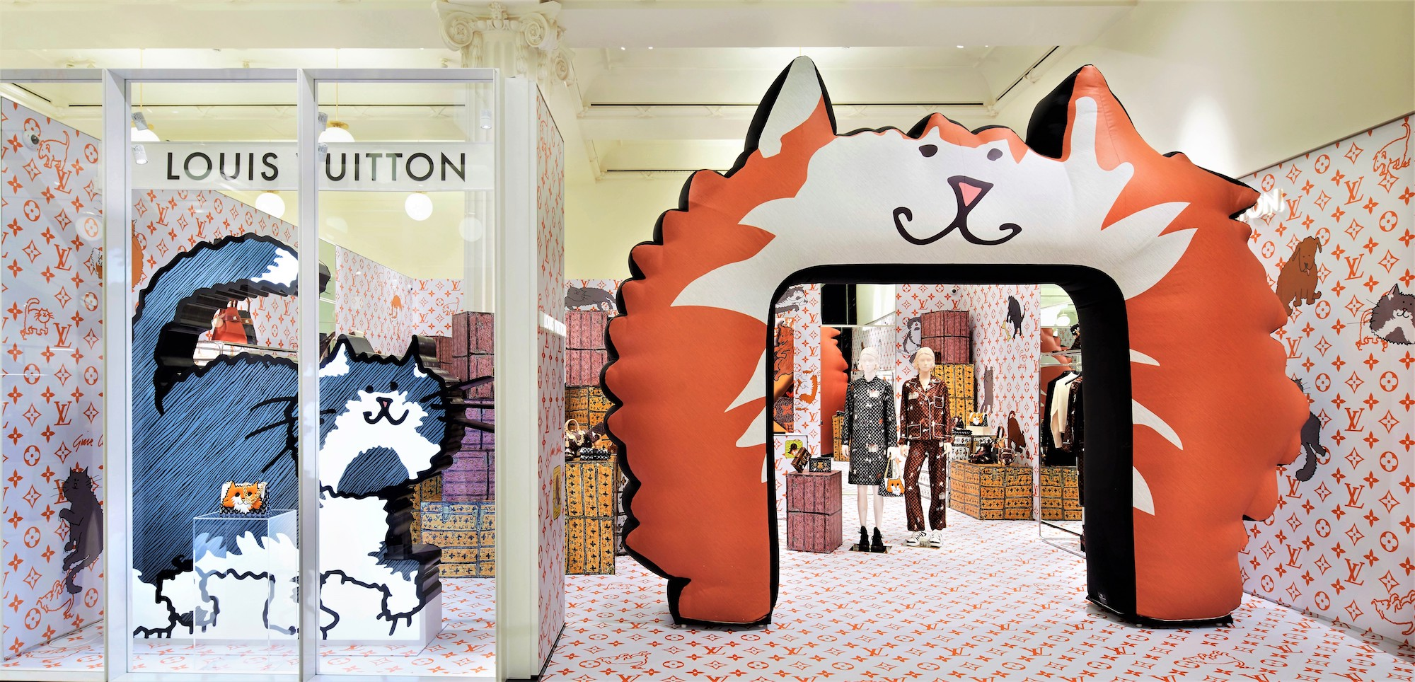 louis vuitton grace coddington popup